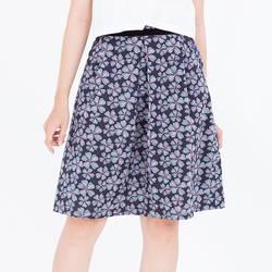 Chân váy hoa xanh lưng bạ nhung 2VN08