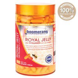 Viên Uống sữa ong chúa boomerang Platinum Royal Jelly 1400 mg+Collagen BM01