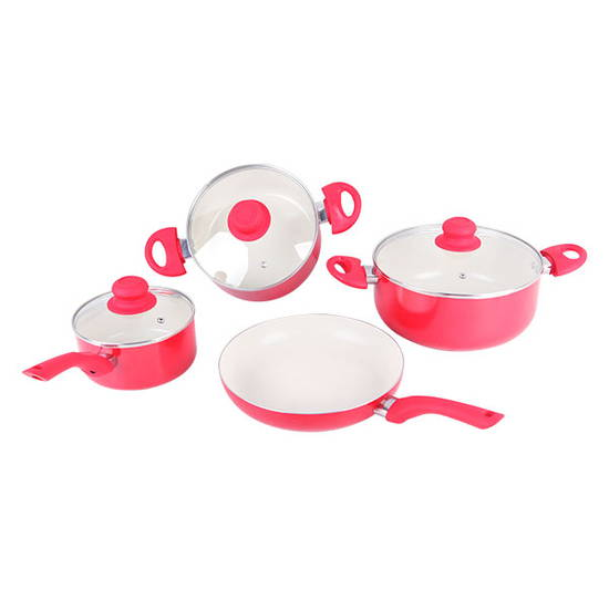 Bộ 3 nồi + 1 chảo Ceramic ILO (tặng1 nồi mini+1 chảo 28cm + bếp gas hồng ngoại Rainy)