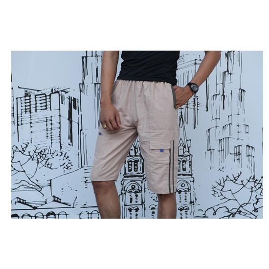 CAGANU-Bộ 05 quần nam lửng kaki túi cao cấp tặng 2 áo ba lổ cotton + 1 túi xách du lịch