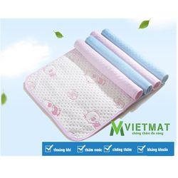 Tấm lót chống thấm VIETMAT (80x120cm) - Màu Hồng