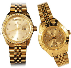 Đồng hồ cao cấp SWISS GUARD Mạ vàng 24K Nam/Nữ