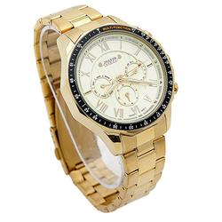 JULIUS - Đồng hồ nam cao cấp Jah-091 mạ vàng Hàn Quốc + 1 đồng hồ nữ Julius