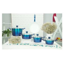 [ Ilo Hạnh Phúc]Bộ 4 nồi 1 chảo Ceramic bếp từ ILO Hạnh Phúc(pha loang)