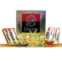 Bodeokwon_01 hộp (06 củ) Sâm nguyên củ tẩm mật ong+01 hộp (40gr) sâm lát+5 gói mặt nạ+ 200gr kẹo sâm