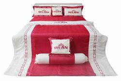 Bộ Drap Phủ Cotton Satin Vera 1,6m x 2m + 1 Bộ Drap Ela 1.6m x 2m ( 1 mền + 1 drap bọc + 3 áo gối )