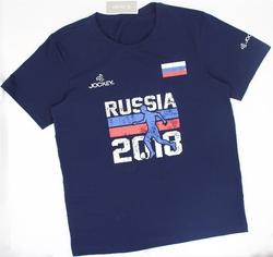 JOCKEY-2 áo thun Jockey mùa World Cup 2018 (Xanh đen + Trắng) tặng 1 áo ba lỗ Jockey