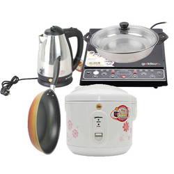 [Combo Goldsun] Bếp từ + nồi cơm điện 1.2L + Bình đun + Chảo 26cm