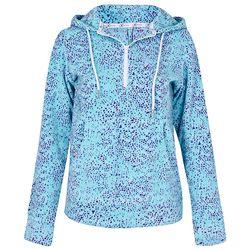 Áo nỉ nữ chui đầu KI261608- PL màu đốm xanh dương