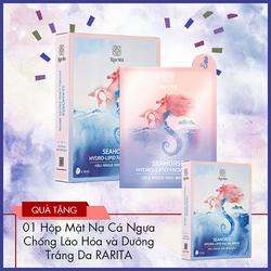 Bộ 10 Miếng Mặt nạ cá ngựa chống lão hóa và dưỡng trắng da RARITA(Đảo Jeju - Hàn Quốc)
