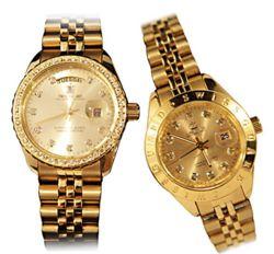 Bộ đôi Đồng hồ cao cấp SWISS GUARD Mạ vàng 24K