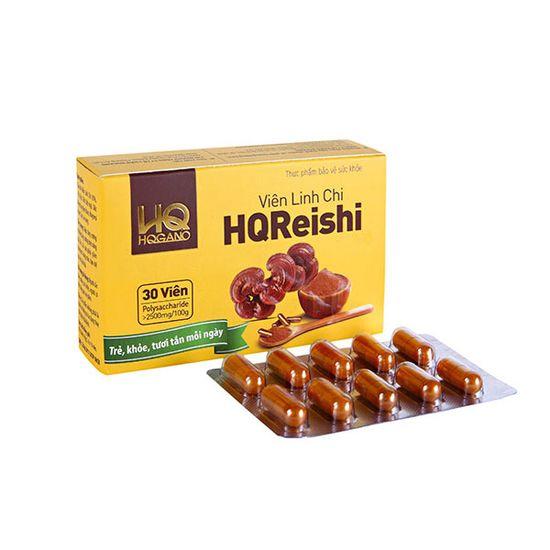 Bộ 05 hộp (30 viên/hộp) Viên nấm linh chi HQGano + 02 hộp (3gr/hộp) đông trùng hạ thảo