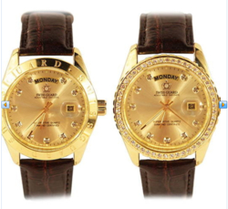 Đồng hồ cặp cao cấp SWISS GUARD Mạ vàng 24K