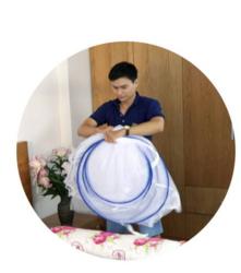 Bảo Lộc - ComBo 2 Mùng Tự Bung Cao Cấp  1.6m