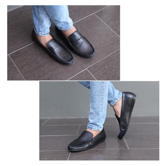 LAKA Combo giày nam chống trượt da thật (1giày moi + 1 giày sandal) TẶNG 1 Túi đeo chéo