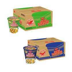 Nissin_1 thùng mì ly sườn chanh Thái Lan + 1 thùng mì ly Hải sản Nhật Bản + 1 thùng waxada xá xíu