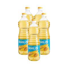 GHN_Bộ 5 chai dầu hướng dương Bonlife 1 lít (4+1)