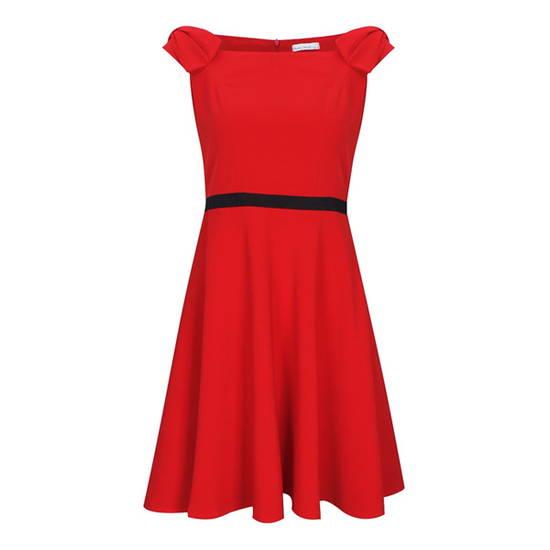 Đầm tay nơ Amme Đ67 Đỏ