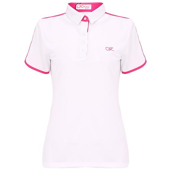 Áo thể thao nữ KS241605-WH039 màu trắng/hồng