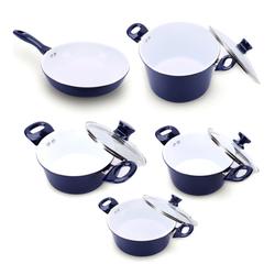 [Ilo Thinh Vượng]Bộ 4 nồi 1 chảo Ceramic bếp từ ILO Thịnh Vượng