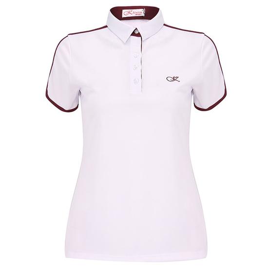 Áo thể thao nữ KS241605-WH421 màu trắng/đỏ
