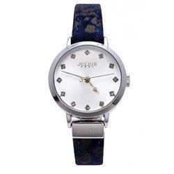Đồng hồ nữ Julius Hàn Quốc Dây Da Ja-976 Ju1222 (Đen Bạc)