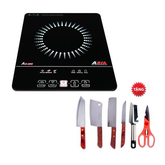 [ ASIA ] Bếp điện từ Asia AS-686 + Bộ dao kéo 6 món
