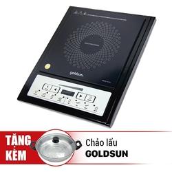 [GOLDSUN Như Ý] Bếp điện từ GI-M11 (kèm nồi lẩu) + Nồi cơm điện GR-1127 1.2L + Bộ 03 nồi Inox 03 đáy
