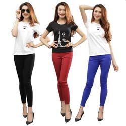 VICKY Design - Combo 3 quần KAKI Thun (Tặng 3 áo thun)