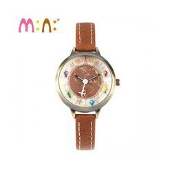 Đồng hồ Mini Hàn Quốc MN2047 màu nâu