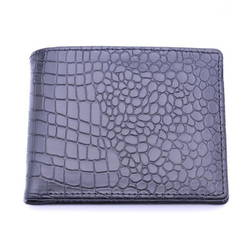 LAKA - Combo Belt & Wallet(Màu đen vân cá sâu) + tặn 1 túi đeo chéo