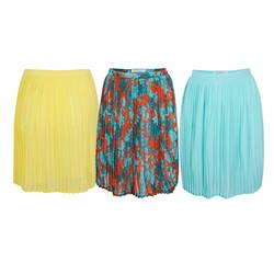 Chân váy ly vàng + hoa cam + xanh ngọc (Đ99+Đ101+Đ102)