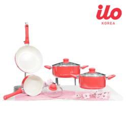 (1bill) Bộ 3 nồi + 1 chảo Ceramic ILO (1 nồi mini+1 chảo28cm+bộ drap+ TL 100k)R/Y