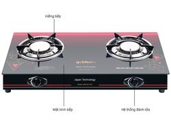 [GOLDSUN] Bếp gas đôi hồng ngoại GSB-2017GC (70cm) + Máy Xay Cầm Tay GS Premium GHB-41