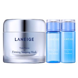 Bộ Mặt nạ ngủ Laneige Time Freeze Firming Sleeping Mask + Nước cân bằng + Sữa dưỡng Perfect Renew