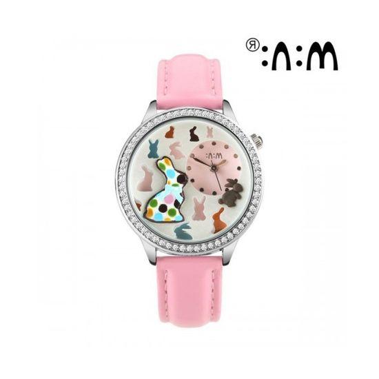 Đồng hồ Mini Hàn Quốc MN2040 màu hồng
