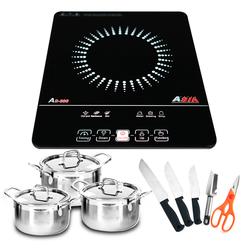 [ ASIA ] Bếp điện từ Asia AS - 686 + Bộ 3 nồi Inox + Bộ dao kéo 5 món