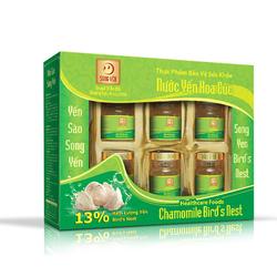 7 hộp nước yến hoa cúc Song Yến + 4 hộp nước yến collagen+ 06 lon ngũ diệp sâm+ 05 cháo yến thịt bằm