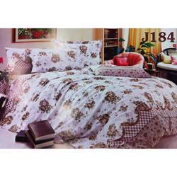 Bộ drap bọc+chăn cotton in hoa J184 Julia 180x200