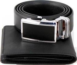 LAKA - Combo Belt & Wallet trơn+ tặng 1 túi đeo chéo