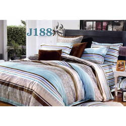 Bộ drap bọc+chăn cotton in hoa J188 Julia 160x200