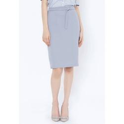Chân váy ôm xám lưng có đính khuy Leena 4VN017