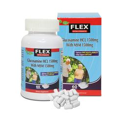 NatureGift-Bộ 5 hộp Hỗ trợ sụn Khớp Flex Glucosamin + 10 chai nước Hồng sâm