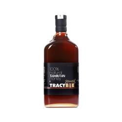 02 chai (600ml/chai) Mật ong Chôm Chôm Tracybee + 01 lọ mật ong 189ml+ 01 chai keo xit +  hộp gỗ