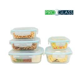 Bộ 5 hộp thủy tinh đựng thực phẩm Pro Glass