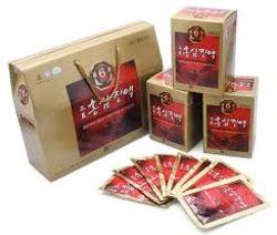 02 hộp (60 gói) Hồng sâm nước Ginseng House + 01 trà sâm + 01 kẹo sâm_Live
