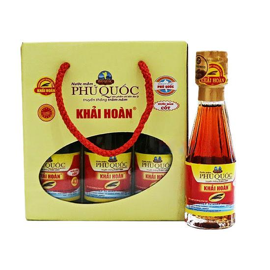 Phú Hải_12 chai nước mắm Khải Hoàn 50ml + 5 hộp Cơm sấy gạo thơm + 2 hôp cơm sấy rong biển