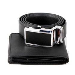 Combo Belt & Wallet Laka trơn cho nam
