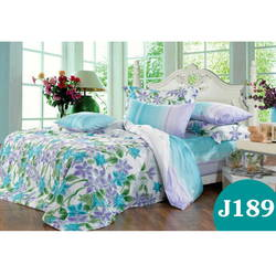 Bộ drap bọc+chăn cotton in hoa J189 Julia 180x200