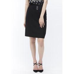 Chân váy ôm đen có đính 2 khuy 7VN013